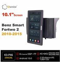 "Auto Audio 10,1 ""Auto drehbar 1280 * 720 Eigentor Android 10.0 Multimedia-Formatierer Smart fortwo 2 2010-2021 Funksystem"