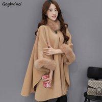 Женская шерстяная смесь женщины сплошные водолазки свободно высокого качества плюс размер женские пальто теплые женщины элегантный корейский стиль моды