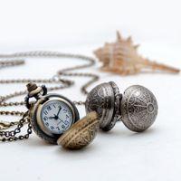 NUEVOS NUEVOS Y NUEVA Qixia Ball Bols Bols Bols Beart Reloj Collar de cuarzo Accesorios vintage al por mayor Coreano Suéter Cadena Mesa de moda Estudiantes de la mesa