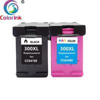 Coloink 300XL Cartuccia d'inchiostro 303 Sostituzione per 300 Nero Tricolore Deskjet D1660 D5660 D5560 F2420 F2480 F4210 Printe1