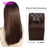 Clipe peruano em extensões de cabelo em forma de seda 1 # 1b 2 # 4 # 10 # clipes de cor em wefr atacado 70g 100g