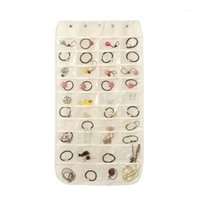 Soporte de joyería 1 unid colgando bolsa de almacenamiento bolso Pendientes Pendientes Cadenas Pantalla Organizador de pantalla para pulsera Collares Decoración del hogar1
