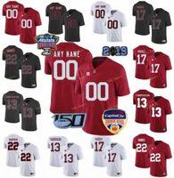 Personalizado Alabama Crimson Tide College Football Jerseys 1 Nick Saba 10 Mac Jones Branco 11 Henry Ruggs III 12 Joe Namath Homens Red preto costurado