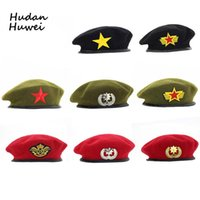 Högkvalitativ ullberedes Fashion Army Cap Star Emblem Sailor Dance Performance Hat Trilby Chapeau för män Kvinnor Unisex GH-400
