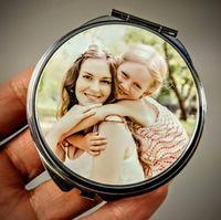 Персонализированные индивидуальные фото компактные зеркала идеальный подарок для подружки невесты, для мамы, рождественского подарка бабушки! День рождения подарки