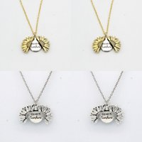 Солнцецвет ожерелье Валентина подарок золотой медальон может открыть ожерелье подвеска вы ожеревете у вас моя цепочка выгравирования солнечных лучей для женщин подарок 390 N2