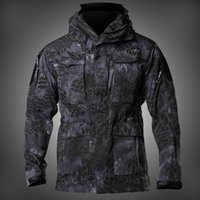 NEW Mens M65 UK US Army Clothes Military Field Jackets Winter Autumn Waterproof Flight Pilot Coat Hoodie Windbreaker Four colors Y1112