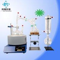 China preço de fábrica para aparelhos SPD-2L de destilação de água / equipamento de destilação de óleo essencial / kit turnkey caminho curto