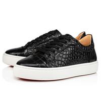 جلد أسود أحذية عارضة أحمر أسفل حذاء جديد شقة Vieirissima Orlato جولة اصبع القدم منخفضة أعلى القطارات Platfrom إمرأة حذاء رياضة اسم العلامة التجارية