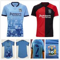 2020 2021 Coventry City Futbol Formaları Biamou Bakayoko Godden Jobello Shipley Kelly Jones Allen Sheaf Özel 20 21 Ev Mavi Futbol Gömlek