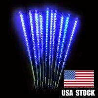 Mavi renk 20 inç 10 tüp 480 leds meteor duş yağmur ışıkları su geçirmez dekorasyon ışık düşen dize ışıkları için düğün partisi