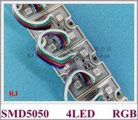 5050 módulo de LED RGB módulo de pixel LED impermeável luz por sinal SMD5050 DC12V 4 levou PC crosta CE ROHS