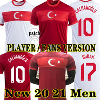 Calhanoglu 20 21 تركيا Soccer Jersey Player نسخة مشجعي 2021 يازيكي Caglar Söyüncü Demiral Ozan Kabak Football Shirts National Mailleots De