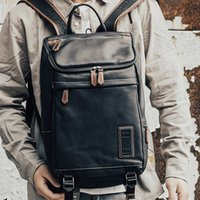 HBP Aetoo Deri erkek omuz çantası, inek derisi adamın sırt çantası, trendbenlerin biber tuz omuz çantası, seyahat sırt çantası