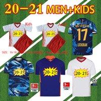20 21 RBL Werner 축구 유니폼 Forsberg 2020 2021 라이프질 Olmo Nkunku Sabitzer 남성 키트 세트 Maillot de Football Shirts 바지 훈련