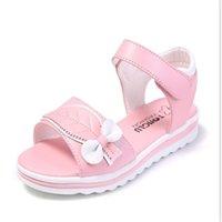 Xinfstreet лето девушка лук мягкие дети детские кожаные пляжные сандалии принцессы для подростков девушки размером 27-38 y200619