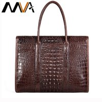MVA genuine men's leather briefcase for male document bags for man's handsbag laptop bag men's large briefcase 7432