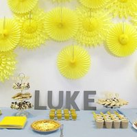 "12 ""30 cm woneycomb Tissue Paper Fans Eid Mubarak Hochzeit Geburtstag Party Dekorationen Kinder Event Party Supplies Baby Shower 5 stücke"