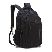 Erkek için SUUTOOP Büyük Kapasiteli Erkekler Sırt Çantası Laptop 15,6 Oxford Katı Fonksiyonlu Okul Çantaları Seyahat Schoolbag Geri Paketi