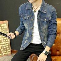 Мужские куртки зимняя куртка мужчины ветер туризм джинсовые джинсы джинсы уличные моды хип-хоп Casaco Masculino одежда JJ60JK1