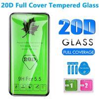 20D 풀 커버 강화 유리 화면 보호기 iPhone 11Pro 12 미니 13 프로 최대 X XR XSMAX 6 7 8Plus