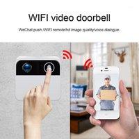 Kapı Zili Kamera Kablosuz Kapı Zili Güvenlik Video Ile Interkom Wifi Kapı Telefonu Gözetim Süper Mini Dijital Görüntüleyici Bell1