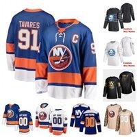 Personalizzato New York Islanders Mathew Barzal Sebastian Aho John Tavares Anders Lee Travis Hamonic Eberle 2020 Hockey Maglie Donne cucito