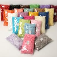 100g Renkli Rendelenmiş Buruşuk Kağıt Rafya Şeker Kutuları DIY Hediye Kutusu Dolum Malzemesi Düğün Evlilik Ev Dekorasyon 83 P2