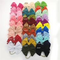 Baby Girls Bow Headband 30 Colores Turban Color Sólido Elasticidad Accesorios para el cabello Moda Kids Cabello Boutique Boutique Bander Banda de pelo 332 K2