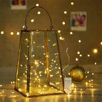 Dize Gümüş Tel Noel askıbezekler Festoon Ana Odası Ağacı Noel Dekorasyon HHB2340 için Peri Işık Noel Dekorasyon led ışıkları