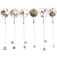 Favoris en métal Style chinois Couleur Tassel Retro Book Mark for Teachers Cadeau Fournitures d'étudiants Cadeau Office School Papeterie 1PC