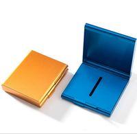 Aluminiumlegierung 20 Zigaretten Fall Box Halter Metall Rauchen Zubehör Zigarettenspeicher Tabak Container Werkzeug 4 Farbe