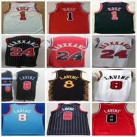 NCAA College College Zach 8 Lavine трикотажные изделия Черный красный белый цвет Лаури 24 Марканен оптом дешевый ретро винтажный Деррик 1 розовый баскетбол