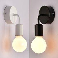 Modern duvar lambası E27, ev lamba dekorasyon WL-e27 için duvara, kapalı için İskandinav tarzı, demir, basit, duvar + led lamba,
