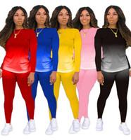 Vestiti da donna 2 Due pezzi Donna Set Outfits Womens Sweats Suits Plus Size Jogging Sport Vestito Abbigliamento morbido manica lunga Tracksuit sportswear