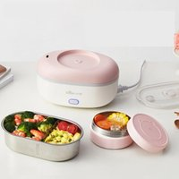 Rice Cookers 220V Electric Cooker Multi Lunch Heating Box Portable Mini Pot With 2 Stainless Steel Inner EU/AU/UK/US Plug1