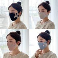 Пыленепроницаемые женские маски рот чисто цвет кролика уши трехмерные моющиеся по многоразовой маски для лица зима горячая распродажа 3 08JTA J2