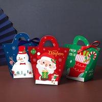 Gift Box véspera de Natal Papai Noel papercard Party Favor Presente Atividade Red Box Ano Novo caixas de embalagem HHA2198