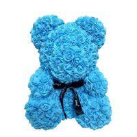 25cm 장미 곰 시뮬레이션 꽃 크리 에이 티브 선물 비누 장미 테디 베어 생일 선물 포옹 베어 T8G018 271 G2