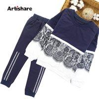 Artirare meninas esportes terno inverno primavera crianças roupas esportivas para meninas lace adolescente crianças meninas roupas 8 10 12 14 ano 20116