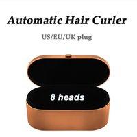 2021 8 Köpfe Multifunktions-Multifunktions-Haar-Curler-Haartrockner Automatisches Curling-Eisen mit Geschenkbox für raue und normale Glätteiseneisen