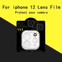 Câmera de vidro protetora para iPhone 12 protetor de tela lente de vidro Film Para iphone 11 Pro Max X XR XS MAX