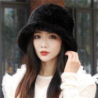 Womens New Style Real Genuine Pelly Pelly Hat Cappello a tenuta in maglia Berretto Teaurmuffs