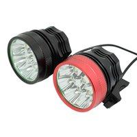 Wasafire 12000lm 8 * XM-L T6 LED Lampe de vélo 3 modes 9600MAH Batterie Batterie Vélo Vélo Phare de cyclisme