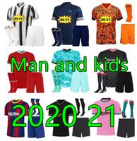 2021 الرجال والأطفال المنزل بعيدا 3rd كرة القدم الفانيلة كرة القدم الفانيلة 21 22 كرة القدم قميص كيت الأسود أطفال كرة القدم مجموعات 20 21