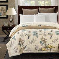Großhandel - 1 stücke baumwolle die schöne vogel bettkread quilt / sommer duvet quilt / 150x200cm und 200x230 cm baumwolle bett cover1