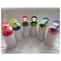 6colors 12oz Sublimation Sippy Cup 350ml sublimation Kids Wa...