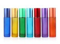 Bunten Qualitäts-Mini 10ml Roll On Glasflasche Fragrances Ätherisches Öl-Behälter mit dem Metall-Rollen-Kugel