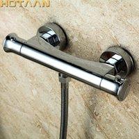 무료 배송 온도 조절 샤워 꼭지 욕실 온도 조절 믹서 뜨거운 및 차가운 욕실 믹서 믹싱 밸브 욕조 수도꼭지 T200710
