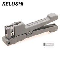 KELUSHI Koaxialkabel Stripper 45-162 45-163 45-165 Fiber Coax Kupfer 0-7.9mm Fiber Optic Stripper Schlauch öffnen und Abisoliermesser
